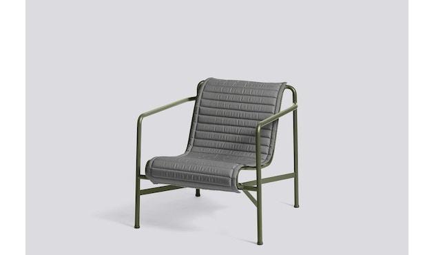 HAY - Sitzauflage für Palissade Lounge Chair High - anthrazit - gesteppt  - 4