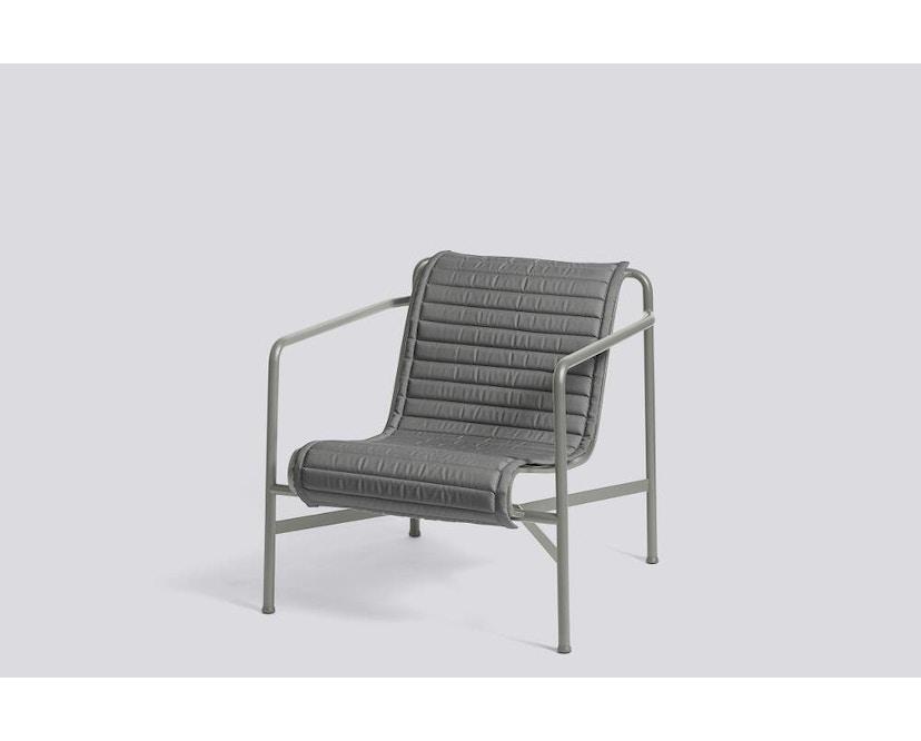 HAY - Sitzauflage für Palissade Lounge Chair High - anthrazit - gesteppt  - 5