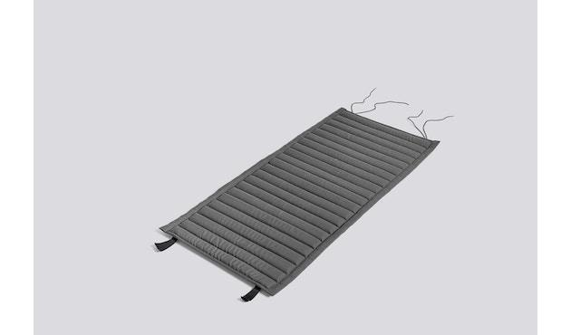 HAY - Sitzauflage für Palissade Lounge Chair High - anthrazit - gesteppt  - 1