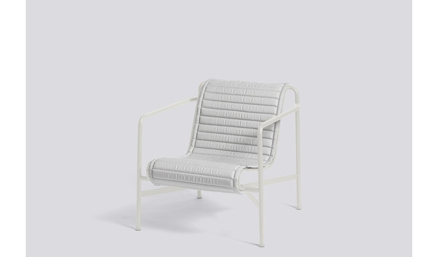 HAY - Sitzauflage für Palissade Lounge Chair High - sky grey - gesteppt - 4