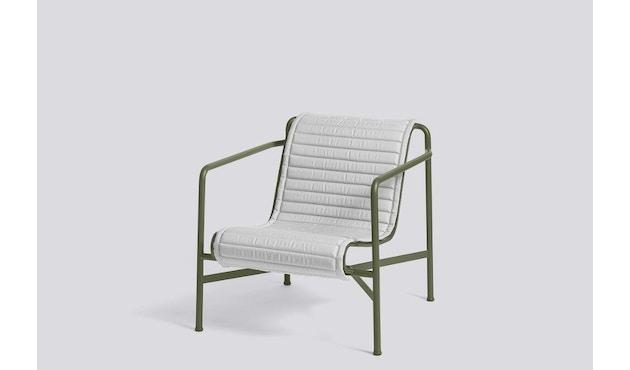 HAY - Sitzauflage für Palissade Lounge Chair High - sky grey - gesteppt - 5