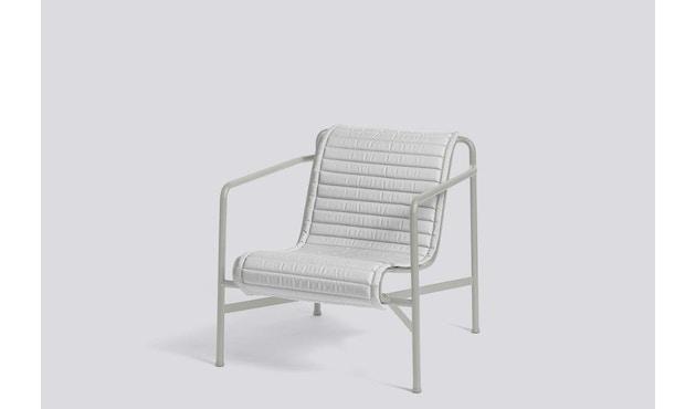 HAY - Sitzauflage für Palissade Lounge Chair High - sky grey - gesteppt - 6