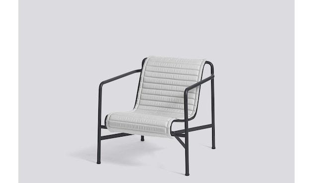 HAY - Sitzauflage für Palissade Lounge Chair High - sky grey - gesteppt - 7