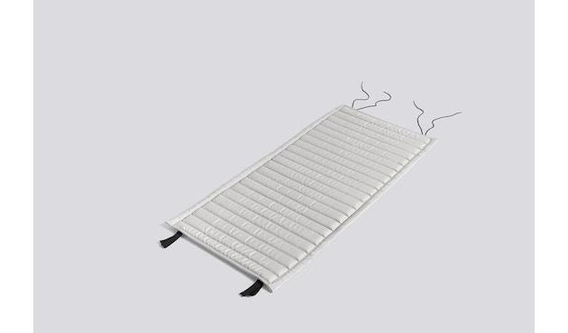 HAY - Sitzauflage für Palissade Lounge Chair High - sky grey - gesteppt - 3