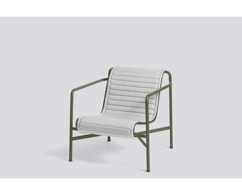 HAY - Sitzauflage für Palissade Lounge Chair Low - gesteppt - sky grey - 5