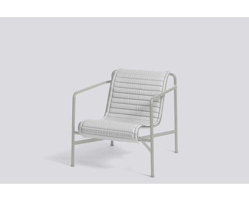 HAY - Sitzauflage für Palissade Lounge Chair Low - gesteppt - sky grey - 6