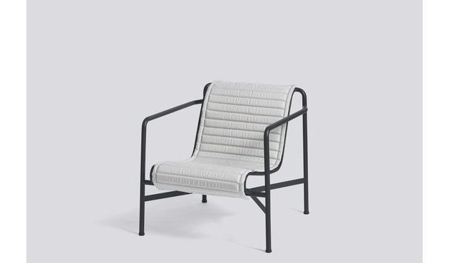 HAY - Sitzauflage für Palissade Lounge Chair Low - gesteppt - sky grey - 7