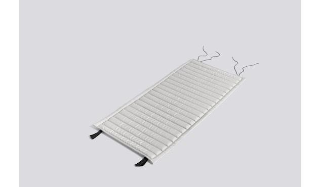HAY - Sitzauflage für Palissade Lounge Chair Low - gesteppt - sky grey - 3