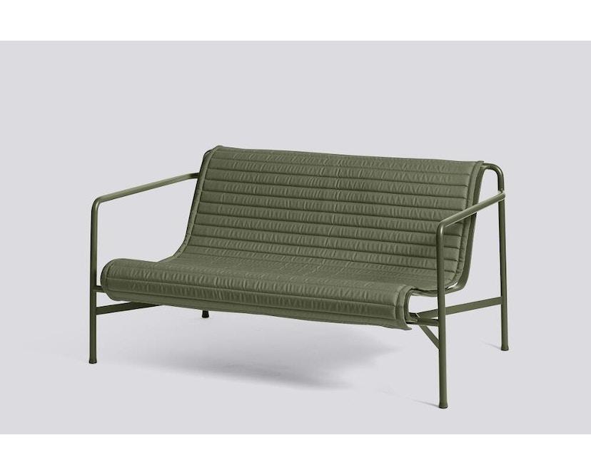 HAY - Sitzauflage für Palissade Lounge Sofa - gesteppt - olive - 4