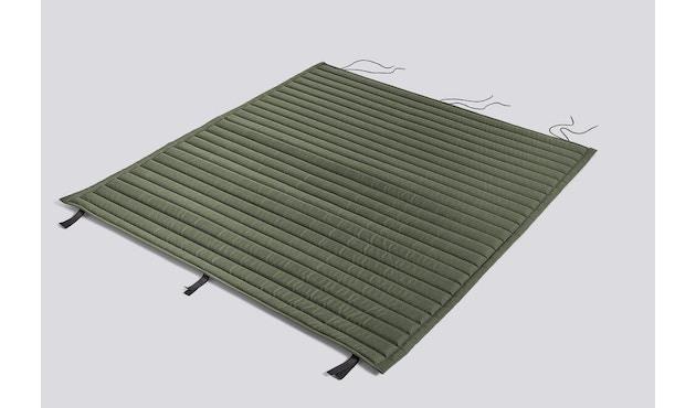 HAY - Sitzauflage für Palissade Lounge Sofa - gesteppt - olive - 1