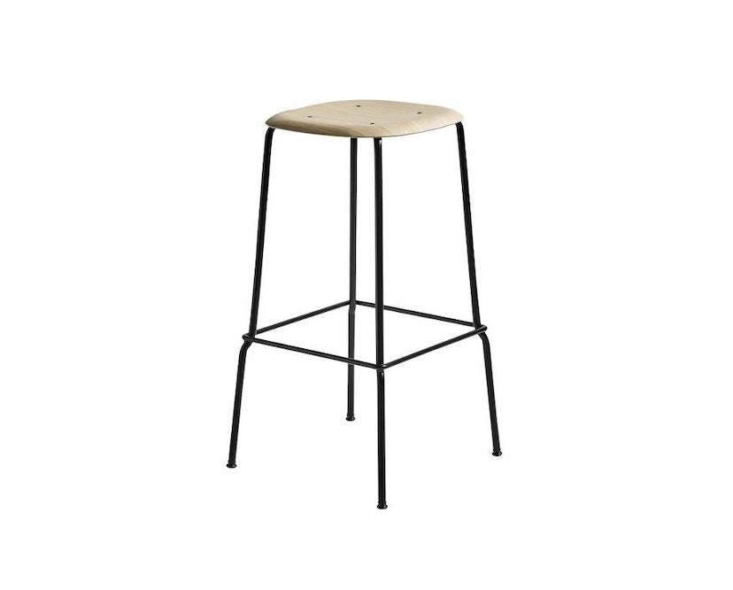 HAY - Soft Edge 30 Bar Stool - matt lackierte Eiche/ schwarz - hoch - 1