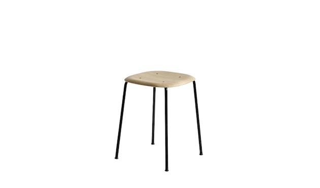 HAY - Soft Edge 70 Hocker - matt lacquered oak - frame black - 1
