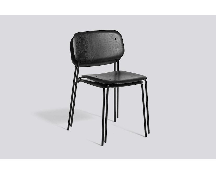 HAY - Soft Edge 10 Stuhl - Eiche matt lackiert - Gestell schwarz - 2