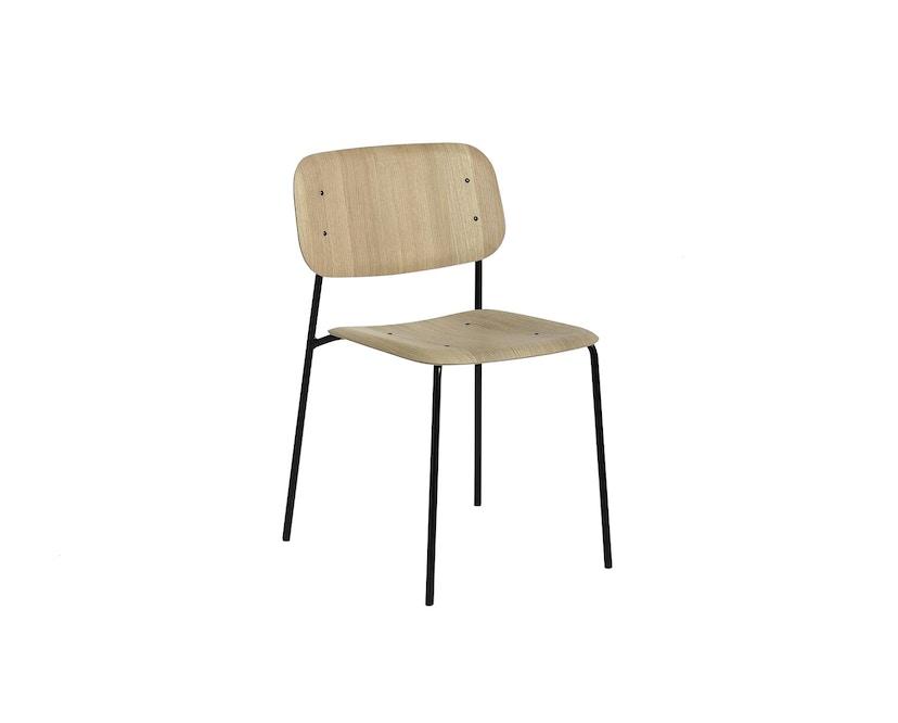 HAY - Soft Edge 10 Stuhl - Eiche matt lackiert - Gestell schwarz - 1