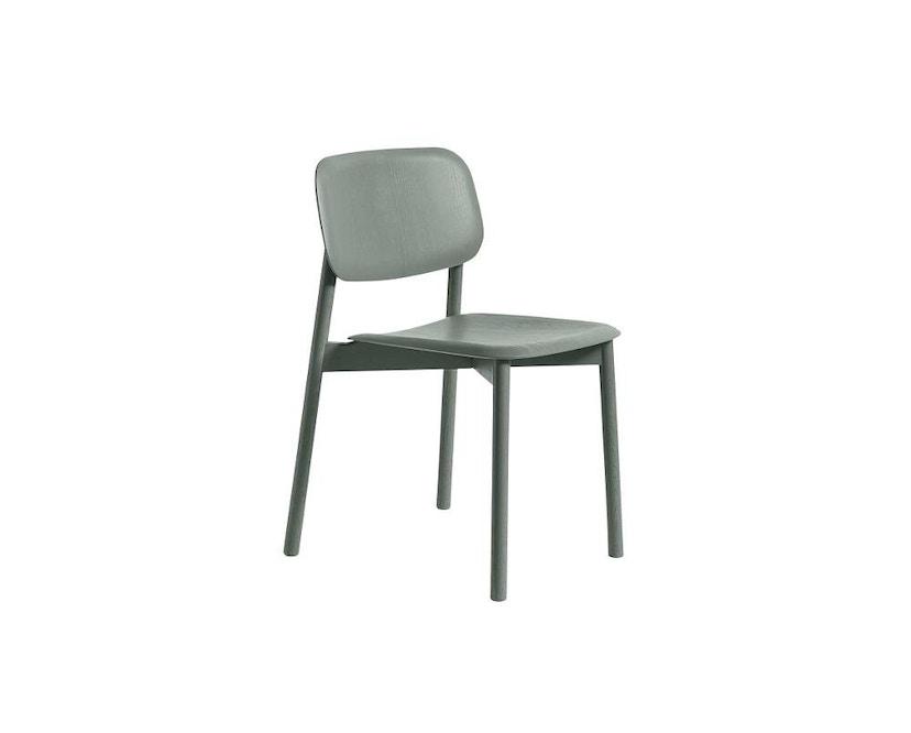 HAY - Soft Edge 10 Stuhl - Eiche nebelgrün gebeizt - Gestell schwarz - 2