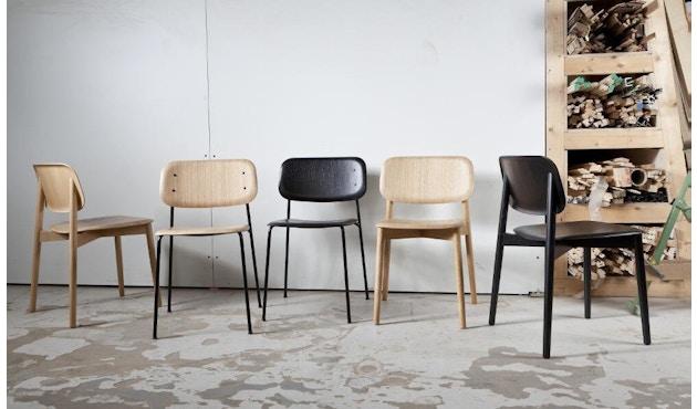 HAY - Soft Edge 10 Stuhl - Eiche nebelgrün gebeizt - Gestell schwarz - 3