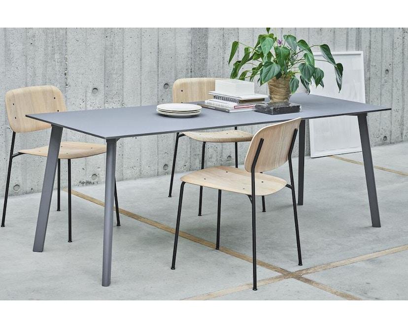 HAY - Soft Edge 10 Stuhl - Eiche nebelgrün gebeizt - Gestell schwarz - 5