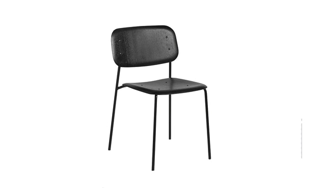 HAY - Soft Edge 10 Stuhl - Eiche nebelgrün gebeizt - Gestell schwarz - 1