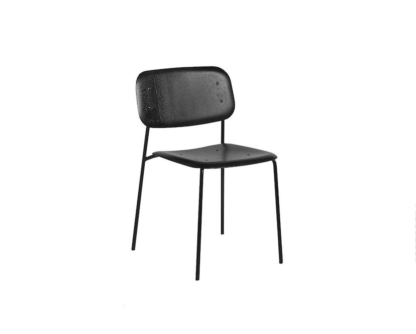HAY - Soft Edge 10 stoel - zwart - zwart gebeitst - 1