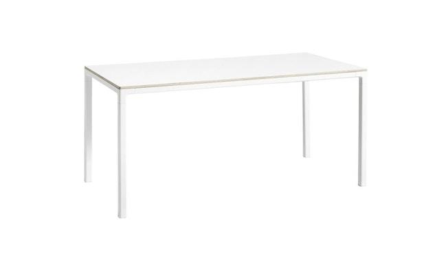 HAY - T12 Tisch - Gestell aluminium weiß - Platte Lionleum weiß - Kante Sperrholz - 160 x 80 - 1