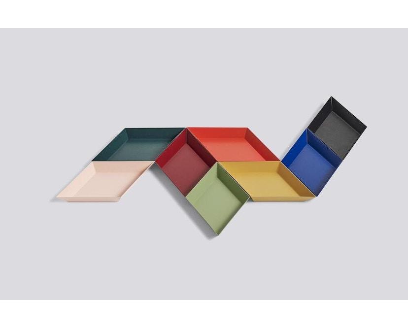 HAY - Tablett Kaleido L - schwarz - wit - XL (45 x 39 cm) - 2