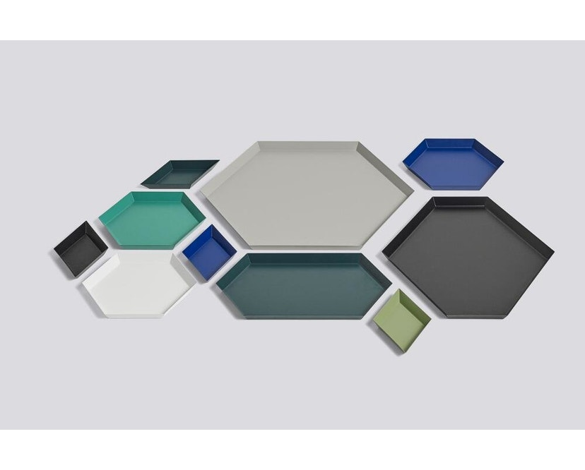 HAY - Tablett Kaleido L - schwarz - wit - XL (45 x 39 cm) - 4