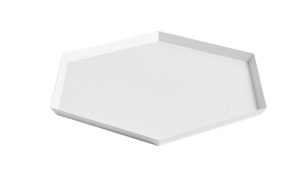 HAY - Tablett Kaleido L - schwarz - wit - XL (45 x 39 cm) - 1