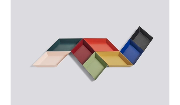 HAY - Tablett Kaleido L - schwarz - XS (19 x 11 cm) - donkerrood - 2