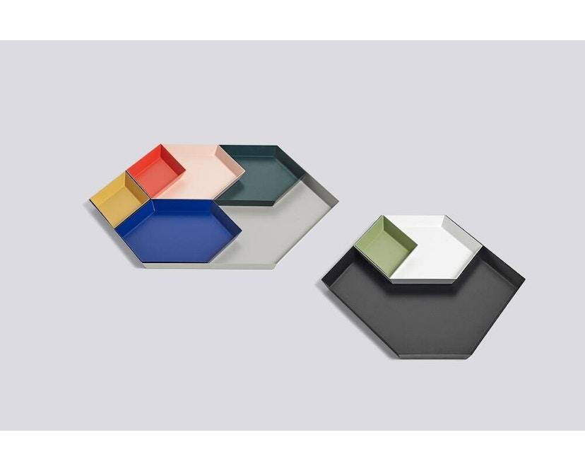 HAY - Tablett Kaleido L - schwarz - XS (19 x 11 cm) - donkerrood - 3