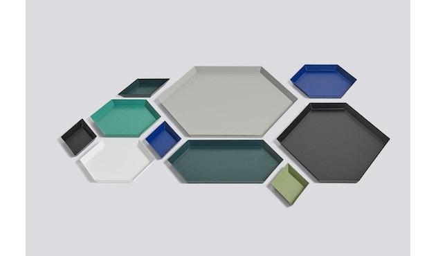 HAY - Tablett Kaleido L - schwarz - XS (19 x 11 cm) - donkerrood - 4