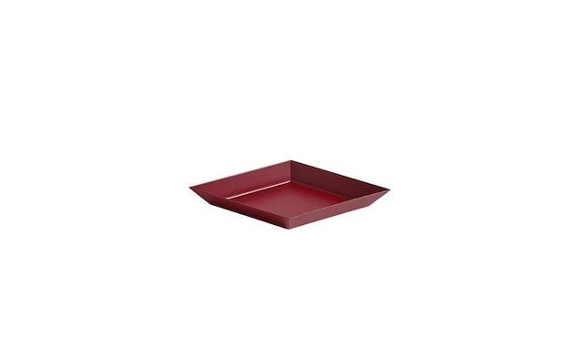 HAY - Tablett Kaleido L - schwarz - XS (19 x 11 cm) - donkerrood - 1
