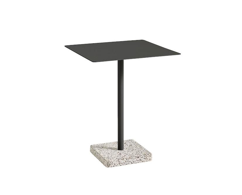 HAY - Terrazzo Gartentisch - Platte dunkelgrau - eckig - Sockel Terrazzo grey - 1