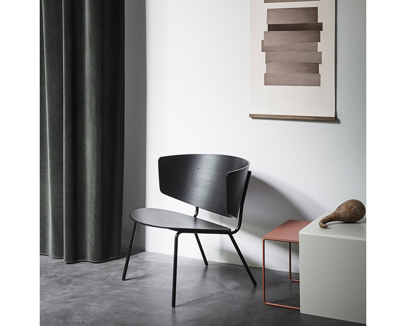 ferm LIVING - Herman Lounge Stuhl - schwarz/schwarz - 3