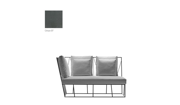 Driade - Hervé Outdoor Sofa Endelemente - Cipro Grigio 97 - links - 1
