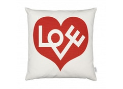 Vitra - Graphic Print Kissen Love - rot - 1