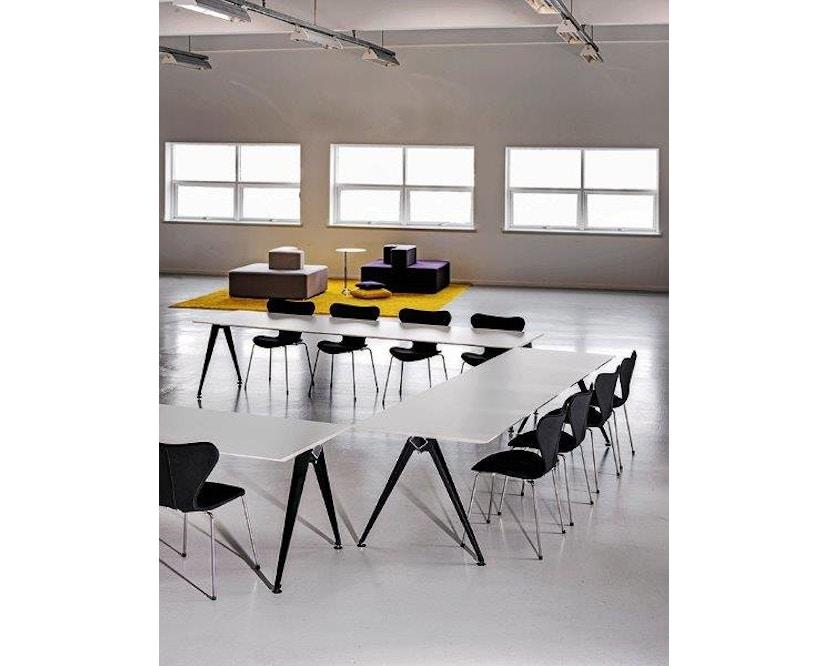 Randers + Radius - GRIP Basic tafel - 239 - 80 cm - wit - Zonder stekkerdoos - zwart - 23