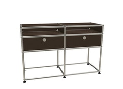 USM Haller - Highboard M - 2 battants et 2 compartiments - 3