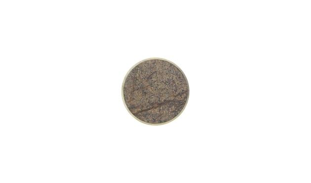 ferm LIVING - Stone Haken - Klein - brauner Marmor - 1