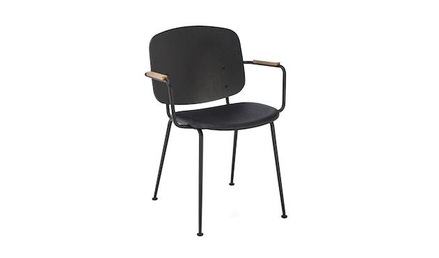 Houe - Grapp Dining Stuhl mit Armlehne - Lederpolster schwarz - 1