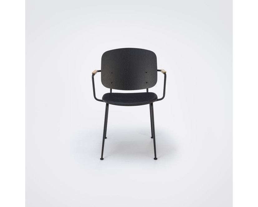 Houe - Grapp Dining Stuhl mit Armlehne - Lederpolster schwarz - 2
