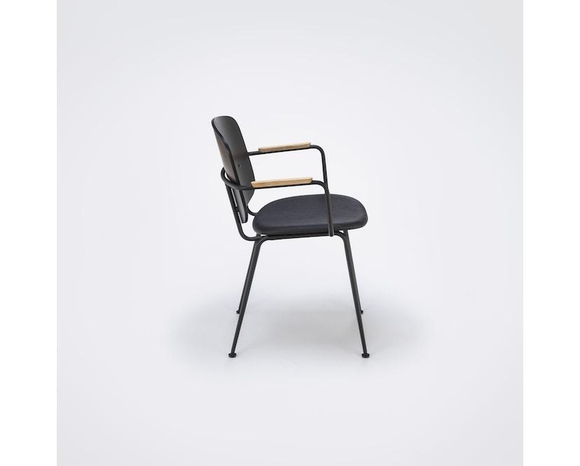 Houe - Grapp Dining Stuhl mit Armlehne - Lederpolster schwarz - 5