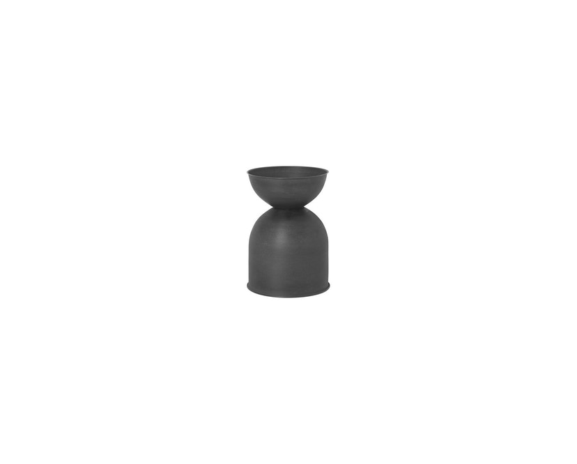 ferm LIVING - Hourglass Blumentopf - schwarz - 2