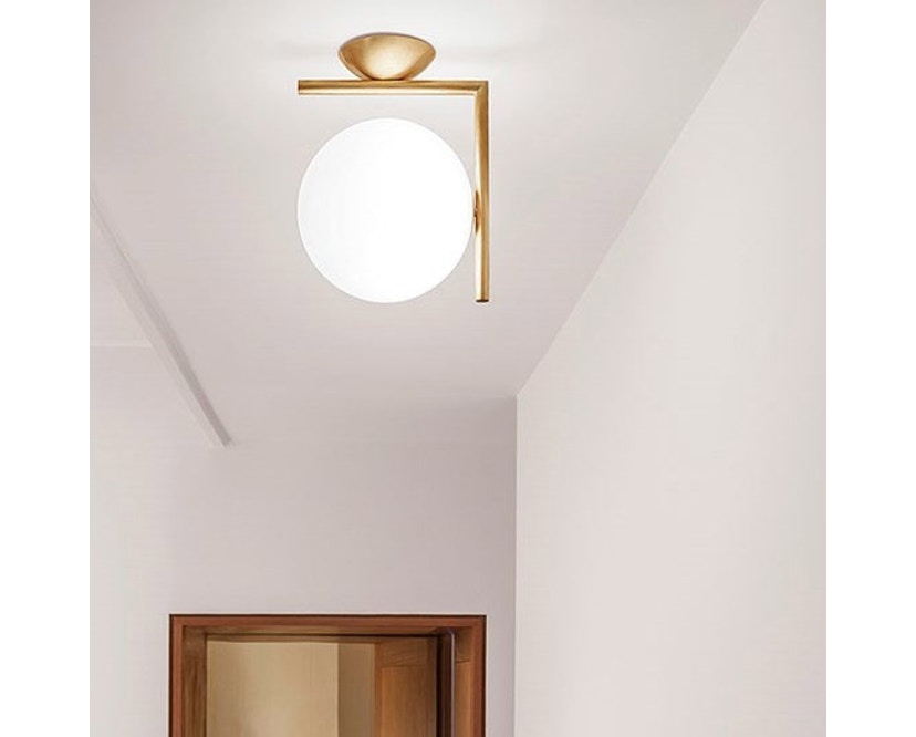 Flos - IC C/W1 wand- & plafondlamp - messing - L - 7