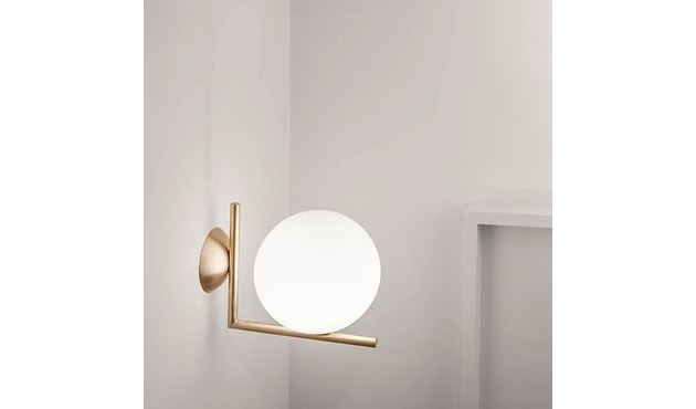 Flos - IC C/W1 wand- & plafondlamp - messing - L - 8