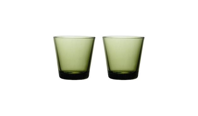 Iittala - Kartio 2er Set Glas, 0,2l - moosgrün - 2