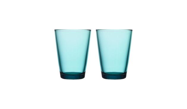 Iittala - Kartio 2er Set Glas, 0,4l - seeblau - 1
