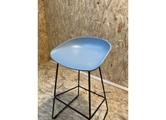 HAY - About a Stool AAS38 - concrete grey - Gestell schwarz - H85 cm - 1