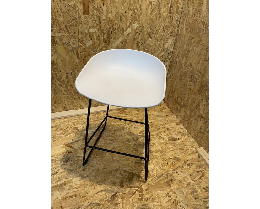 HAY - About a Stool AAS38 - white - Gestell schwarz - H76 cm