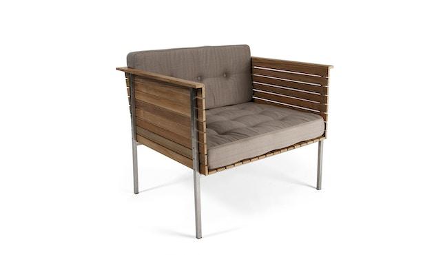 Skargaarden - Häringe Lounge Stuhl - Stahlgestell gebürstet - chine meliert - 1