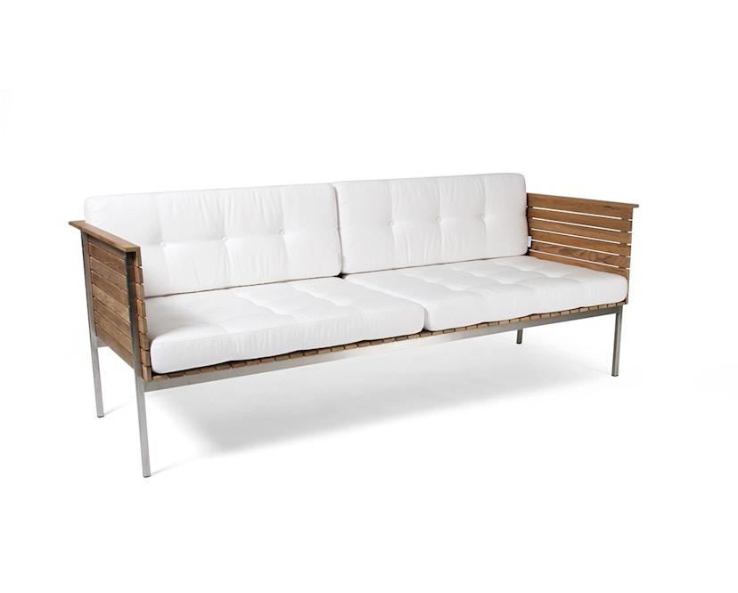 Skargaarden - Häringe Lounge Sofa - Stahlgestell gebürstet - weiss - 1